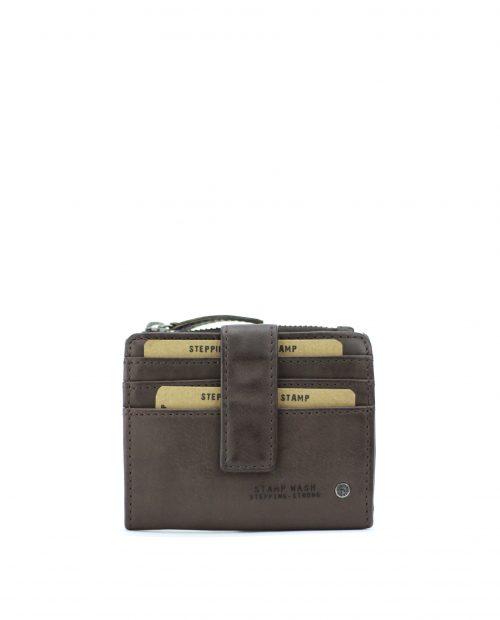 ATLAS-Tarjetero de piel Stamp color marrón-MHST00420MA-STAMP