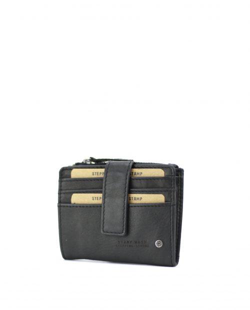 ATLAS Tarjetero de piel Stamp color negro MHST00420NE STAMP 1