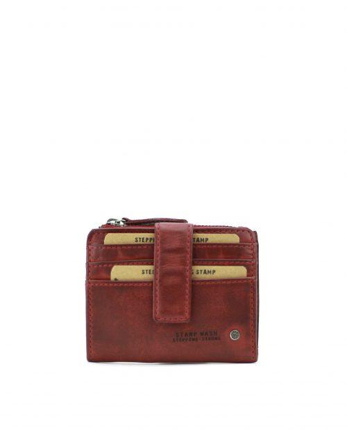 ATLAS-Tarjetero de piel Stamp color rojo-MHST00420RO-STAMP