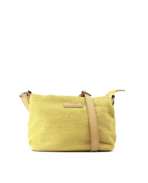 FENI-Bolso bandolera de algodón yute mujer Stamp color amarillo-BMST00114AM-STAMP