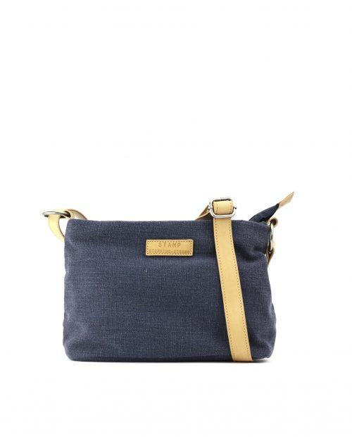 FENI-Bolso bandolera de algodón yute mujer Stamp color azul-BMST00114AZ-STAMP