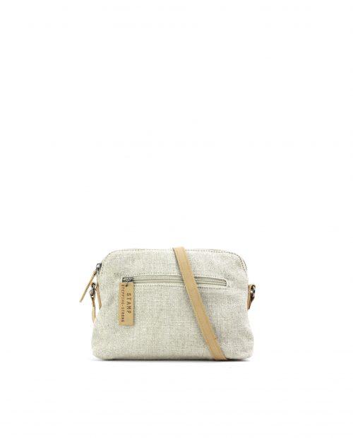 FENI-Bolso bandolera de algodón yute mujer Stamp color beige-BMST00116BE-STAMP