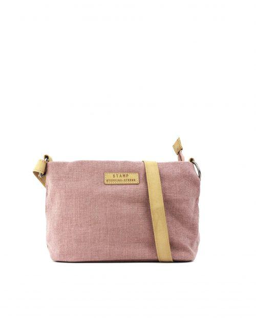 FENI-Bolso bandolera de algodón yute mujer Stamp color rosa-BMST00114RS-STAMP