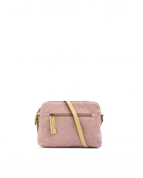 FENI-Bolso bandolera de algodón yute mujer Stamp color rosa-BMST00116RS-STAMP