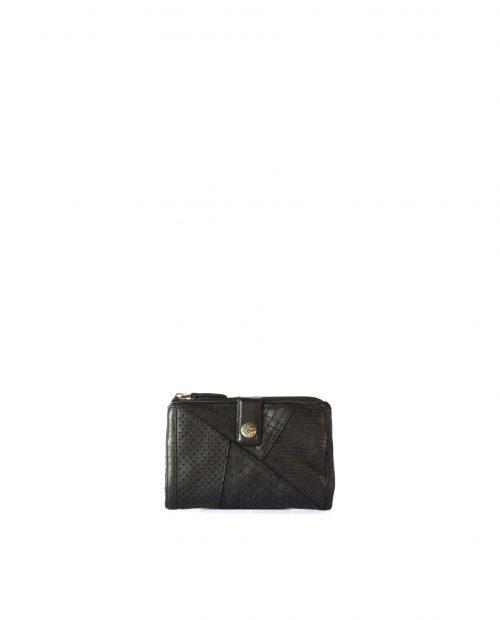 LEYLA-Billetero de piel lavada mujer Stamp color negro-MMST62716NE-STAMP