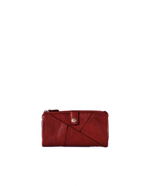 LEYLA-Billetero de piel lavada mujer Stamp color rojo-MMST62715RO-STAMP
