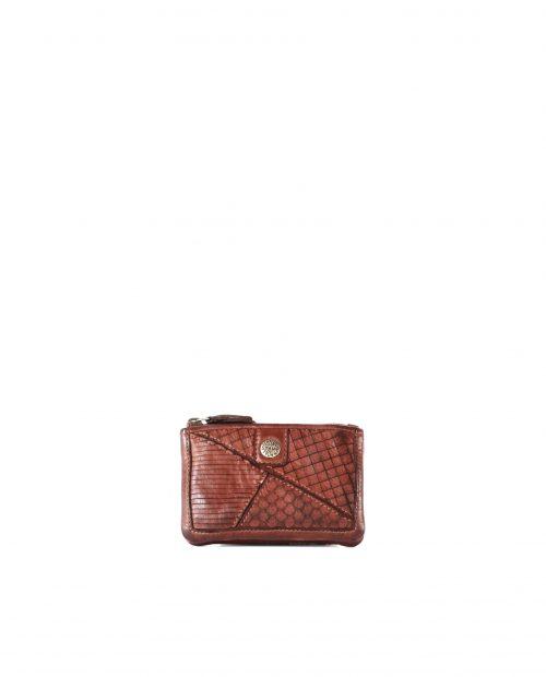 LEYLA-Portamonedas de piel lavada mujer Stamp color cuero-MMST62717CU-STAMP
