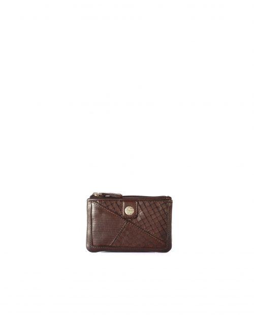 LEYLA-Portamonedas de piel lavada mujer Stamp color marrón-MMST62717MA-STAMP