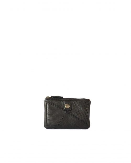 LEYLA-Portamonedas de piel lavada mujer Stamp color negro-MMST62717NE-STAMP