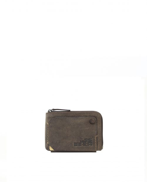 NAOS-Monedero tarjetero piel vacuno Stamp color marrón-MHST02704MA-STAMP