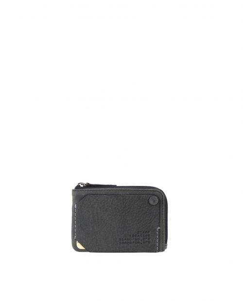 NAOS-Portamonedas de piel vacuno Stamp color negro-MHST02705NE-STAMP