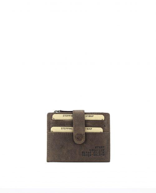 NAOS-Tarjetero de piel vacuno Stamp color marrón-MHST02710MA-STAMP