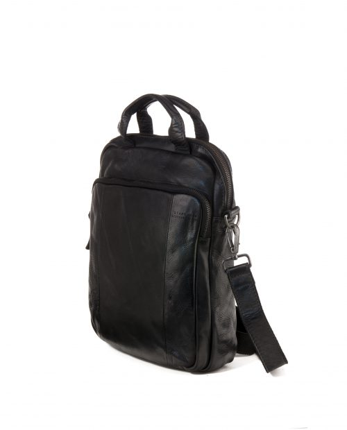 TICHI Bandolera convertible en mochila Stamp en piel color negro BHST00131NE STAMP 2