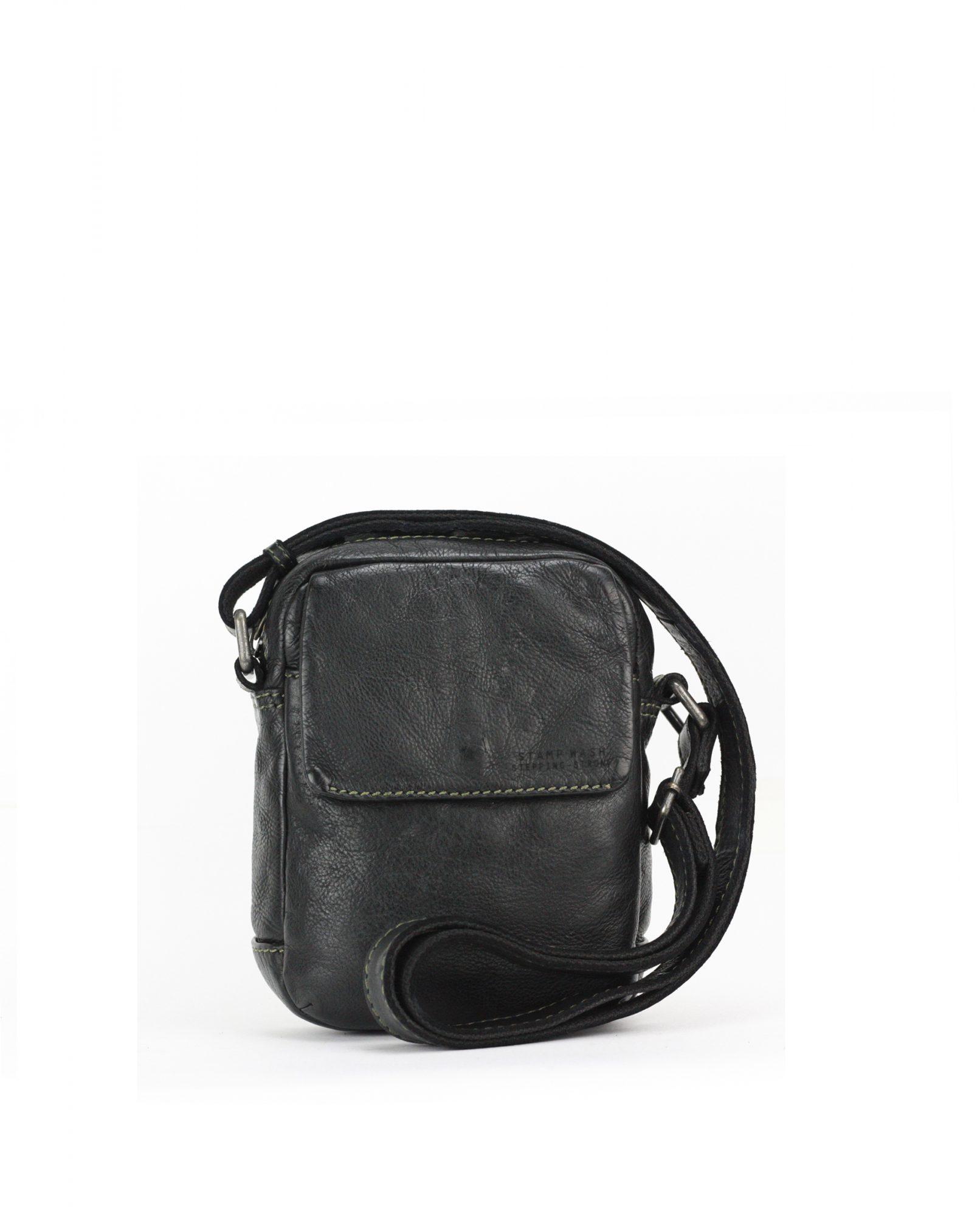 TICHI-Bandolera de hombre Stamp en piel color negro-BHST00129NE-STAMP