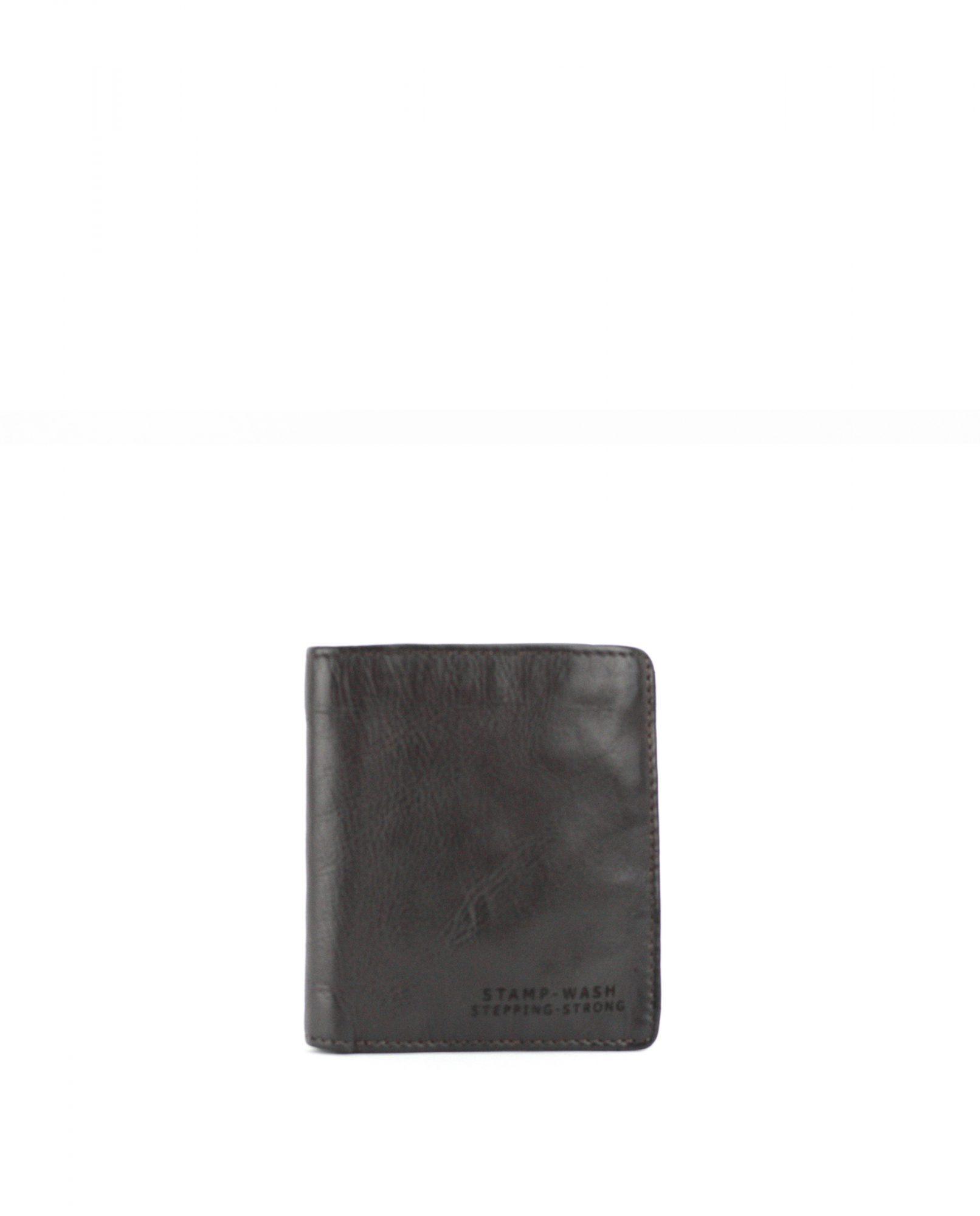 TICHI-Billetero de piel Stamp color marrón-MHST11928MA-STAMP