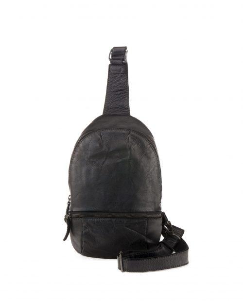 TICHI-Mochila cruzada de hombre Stamp en piel color negro-BHST00130NE-STAMP