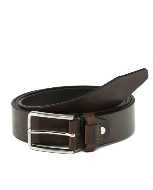CINTURONES-Cinturón de hombre Stamp en piel vacuno marrón-CIST21813MAL