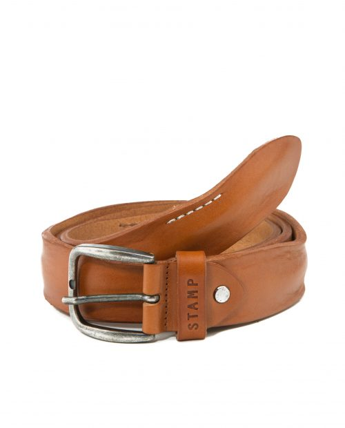 CINTURONES-Cinturón de hombre Stamp en piel lavada cuero-CIST21814CUL