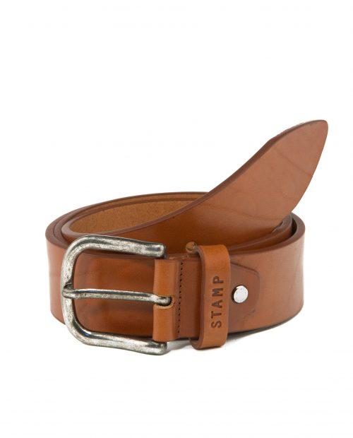 CINTURONES-Cinturón de hombre Stamp en piel vacuno cuero-CIST21815CUL