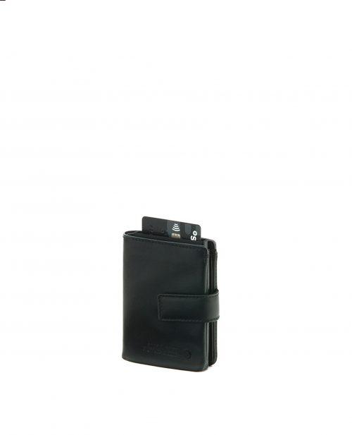 NEWEST-Billetero de hombre Stamp en piel nappa negro-MHST27518NE-STAMP