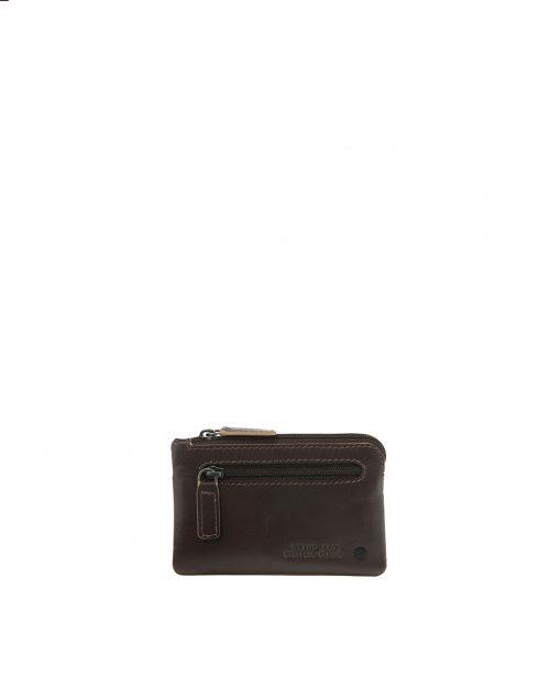 NEWEST-Portamonedas de Hombre Stamp en piel nappa newest marrón-MHST27505MA-STAMP